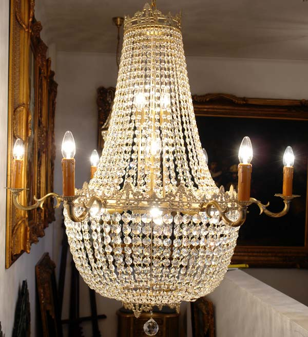 lustre montgolfiere style louis xvi pampilles en cristal luminaire lampe hotel. Black Bedroom Furniture Sets. Home Design Ideas