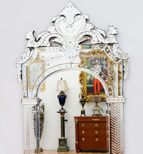 miroir mural venitien 140x75cm style italien baroque rococo glace royale ebay. Black Bedroom Furniture Sets. Home Design Ideas